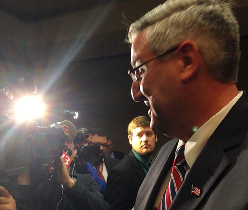 Holcomb first declared GOP Senate candidate