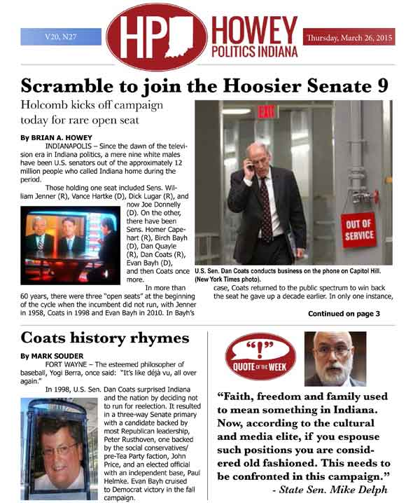 Scramble begins today to join the Indiana Senate 9